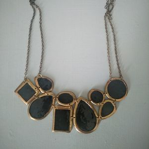 Jewelry - Black enamel statement necklace